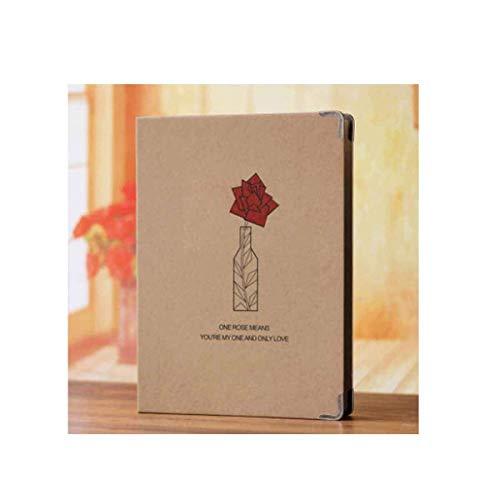 ZTMN fotoalbum, baby-babygroei-recordboek, eenvoudige verticale versie invoegen mode leuk design (biedt ruimte voor 100-300 foto's, rozen) (kleur: D)