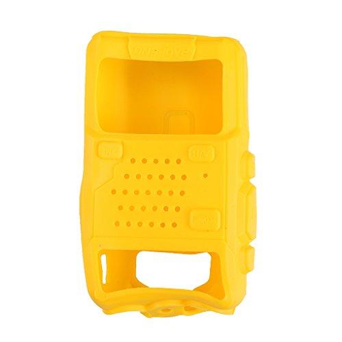 Sunlera 5 Colori in Morbido Silicone Copertura del walkie-Talkie, Custodia Walkie Talkie Case Cover Protettiva per Baofeng UV-5R / UV-5RA / UV-5R Plus/UV-5RE / UV-5RC / F8 +