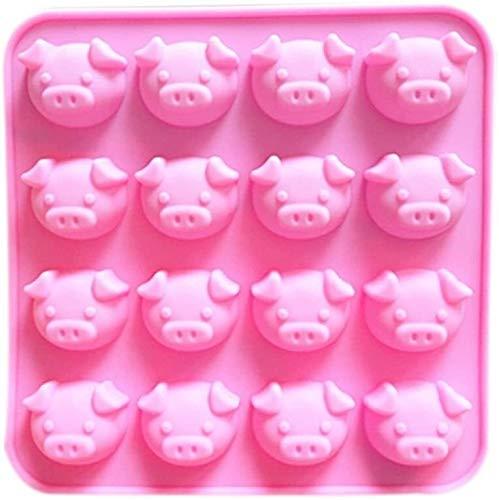 Cabeza de cerdo Silicona Moldes para hornear Bandeja Molde de pastel Cubo...