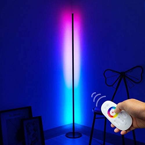 Prysm Minimal Color Changing RGB Floor Lamp Sleek Round Base Lamp with RGB Multicolored Lights product image