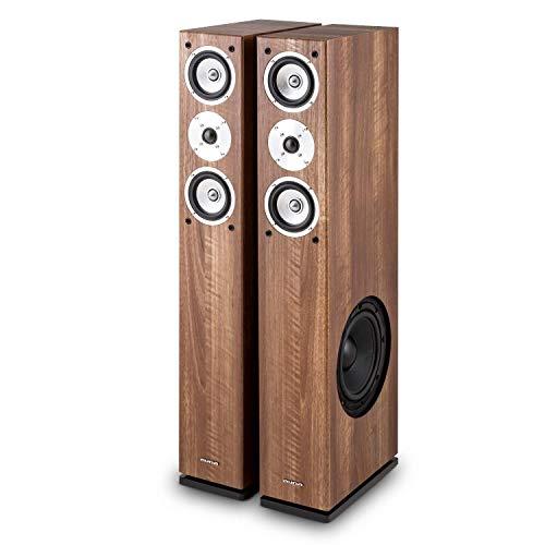 Auna Linie 501 FS-WN Passive Tower Floor Speaker - Pair, 280W, 3-Way...