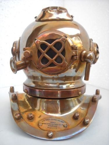 THORINSTRUMENTS (with device) Deep Diving Scuba Style Vintage Retro Mini Divers Helmet Costume Collectibles Divers Diving Helmet