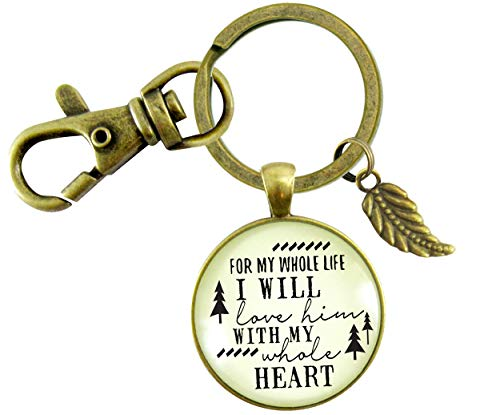 Gutsy Goodness To Her Father In Law Gift Keychain Whole Life I Love Him Promise From Bride Wedding Mens Key Ring