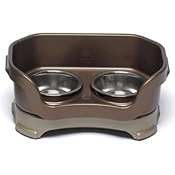 Neater Brands Bronze Elevated Cat Diner Bowl Height  3  from floor