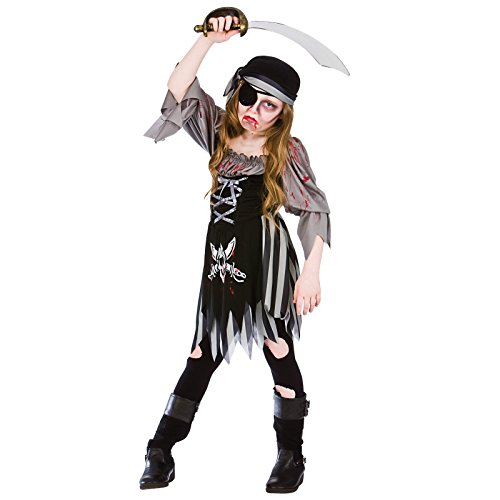 Zombie Ghost Pirate Girl - Kids Costume 11 - 13 years