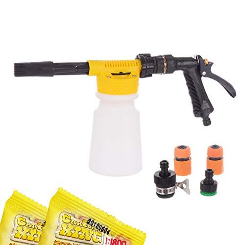 Schaumkanone TECHNIC Foam Gun Schaumlanze Schaumpistole Schaumstoff 900ml Für Auto-Garten-Reinigung + Anschlüsse + Shampoo