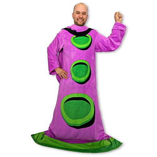 getDigital Purple Tentacle Wearable Throw Blanket with Sleeves - Cozy Fleece Blanket for Adults - Funny Merchandise inspired by the Retro PC-Game Day of the Tentacle - One Size 55.12 x 78.74 inch