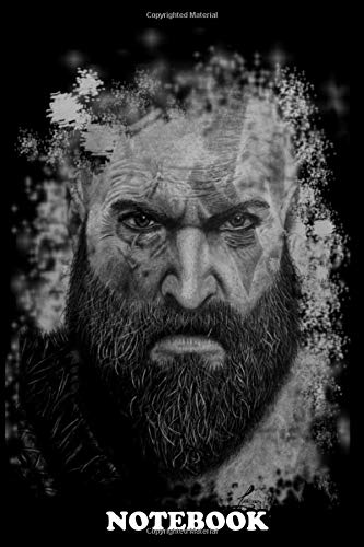 """Notebook: Illustration Of The Protagonist Of The Game God Of War , Journal for Writing, College Ruled Size 6"""" x 9"""", 110 Pages"""