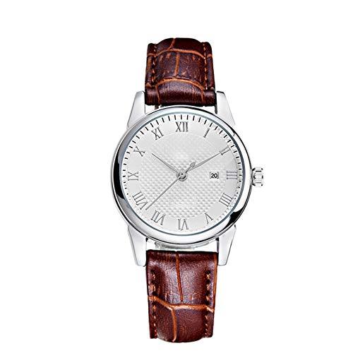 Relojes de cinturón de cuarzo impermeables de moda con incrustaciones de diamante para hombres parejas relojes estudiantiles, números romanos completos Tres manos tipo relojes, mujeres relojes de puls