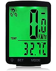 مقياس عداد عداد سرعة مقاوم للمطر للدراجات الهوائية بشاشة LCD من فيست نايت مضادة للماء 2.8 بوصة