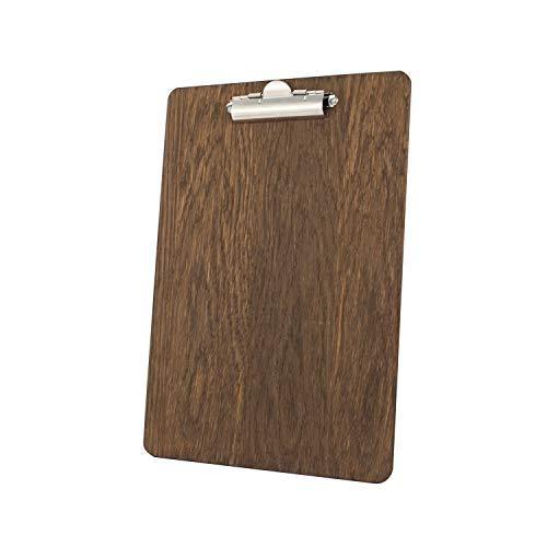 Kreidetafeln UK Klemmbrett mit Dunkles Eichenholz-Finish, Holz, Dunkel Braun (Dark Oak), 33,6x 24x 1,6cm