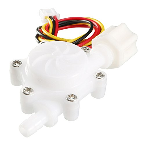 uxcell Hall Effect Water Flow Sensor Switch Flowmeter Fluid Counter DC5V 0.3-3L/min SEN-HZ06FA