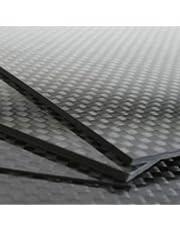 Plancha Fibra de Carbono Matte 500x400 Nacional 100% Twill 2/2 (3mm, Brillante)