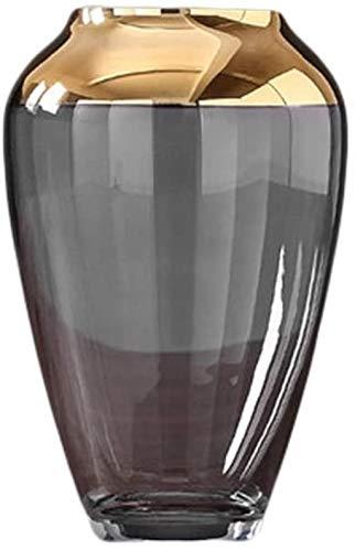Vases Decoración de mesa de cristal hecha a mano creativa de oro para el armario de TV lateral (19,5 x 12 cm) accesorios para el hogar