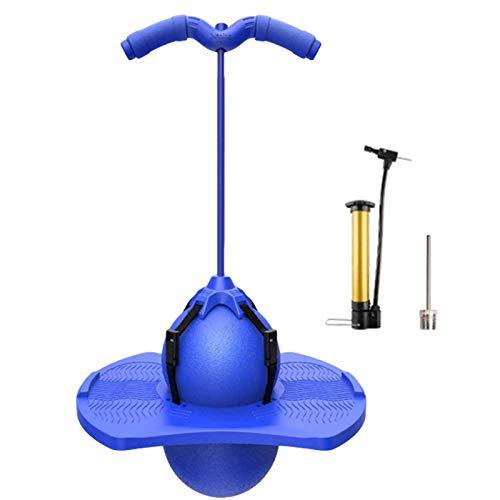 Eustoma Pogo Stick para Niños, Pogo Ball con Ball Jump Trick Bounce Board - Pogos Saltarines & Balones Saltadores con Bomba Jumping Ball para Niños y Adultos (Blue)