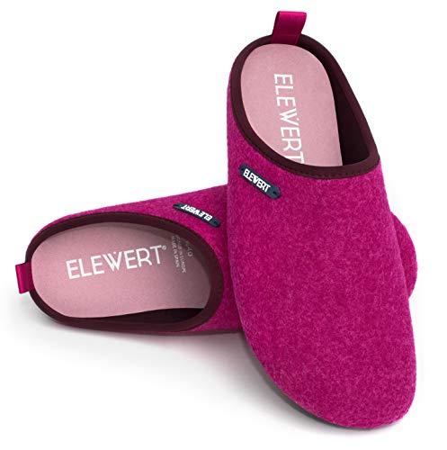 ELEWERT - NATURAL-W1-M-FUCHSIA - Zapatillas para casa, Confort,...