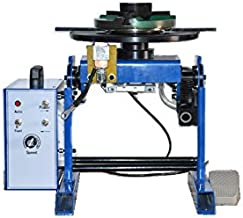 """TECHTONGDA 50KG Rotary Welding Positioner 0-90° Turntable Table 110V Positioning Machine Equipment with 7.87"""" 200mm Chuck"""
