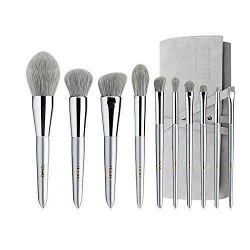 Pinceau de maquillage GCX- 10 Paquets de, Les Cheveux Doux, Doux en Poudre, Fard à paupières Brosse, Brosse de Maquillage Professionnel Beau (Color : White b)