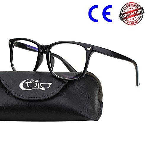 CGID CT82 Gafas con Cuernos Grandes para Protección contra Luz Azul,
