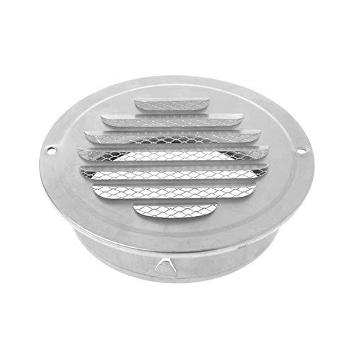 Shuxiang-rejilla de ventilación Acero inoxidable de la pared exterior de la Rejilla del aire, Ronda de conductos de ventilación Rejillas, 70mm, 80mm, 100mm, 120mm, 150mm, 160mm, 180mm, 200mm Accesorio