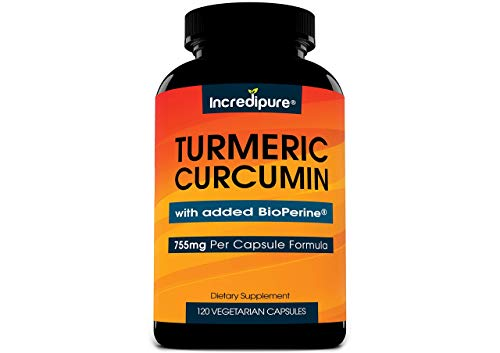 Incredipure Turmeric Curcumin Supplement with BioPerine