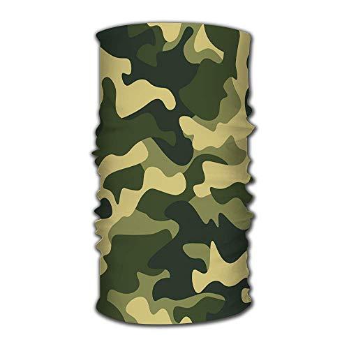 Sciarpa magica Viso Maschera solare Ghetta per il collo Motivo mimetico Sfondo Classico CloHeadwear Ottimo per uomini e donne