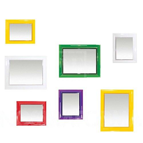 Kartell 8310E6, Specchio da parete François Ghost, Colore: Nero