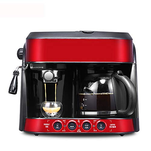 Find Bargain JJCFM Coffee Machine, Coffee Machine Maker Fully Automatic Italian American Type Milk F...