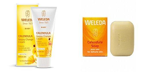 Weleda Calendula Windel Creme + Weleda Calendula Baby Seife (Weleda Super Saver Bundle)