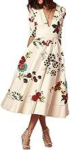 فستان بياقة مثلثة للنساء من واي اند دي