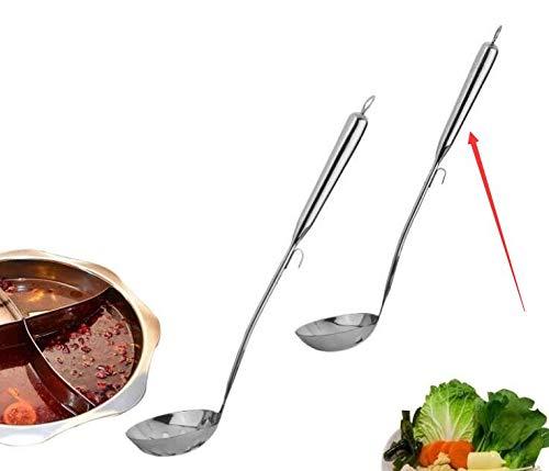 Genven Nuovi Gadget da Cucina Cucina di Hotel Cucina in Acciaio Inossidabile con Manico Lungo (Cucchiaio da minestra)
