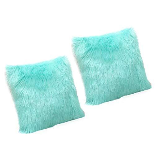 Melunda1X - Funda de almohada de lana australiana de alta imitación lavable de felpa apta para decoración del hogar