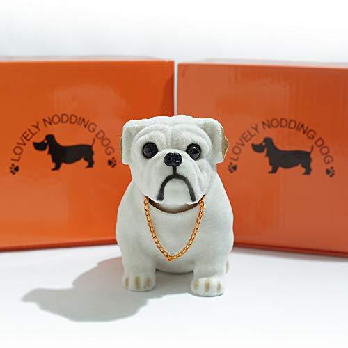 HELLO BAMBOO Bobbing Head Dog-Cartoon Car Dashboard Decors Bulldog/Interior Decoration, Kid's Gift