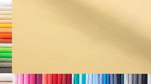 Bündchenstoff XXL als Meterware doppelt: 75cm breit einfach: 150cm breit Farbe: 04 Vanille 0,75m lang 96% Baumwolle, 4% Elasthan über 50 Farben zur Auswahl Jersey 1buy3