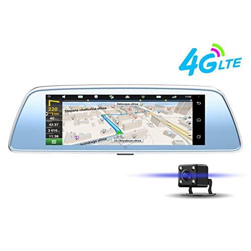 DADONG Drahtlose Rückfahrkamera, Auto-Navigation, die Recorder-Doppelobjektiv-HD-Smart-Rückspiegel-Auto-Kamera-Dash-Cam-Doppelkamera vorn und hinten fährt