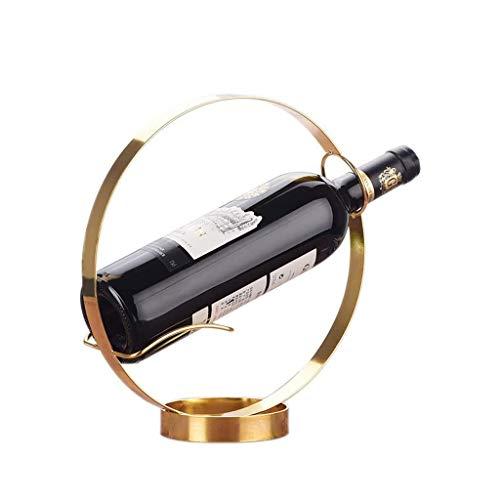 HJXSXHZ366 Soporte para botellas de vino montado en la pared, adornos de acero inoxidable para sala de estar, bar de vino, gabinete de comedor, estante de vino pequeño de dos estilos (color: A)
