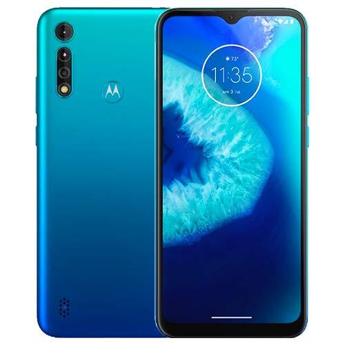 Moto G8 Power Lite (64GB,4GB) 6.5 , 5000 mAh Battery, Dual SIM GSM Unlocked, Global 4G LTE International Model (T-Mobile, AT&T, Metro, Cricket) XT2055-2 (64GB SD + Case Bundle, Turquoise)