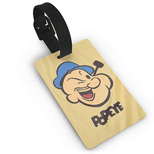Pop-Eye Etiquetas de equipaje de cuero personalizado maleta Tag Set etiquetas de identificación de equipaje Etiquetas de viaje Accesorios de PVC