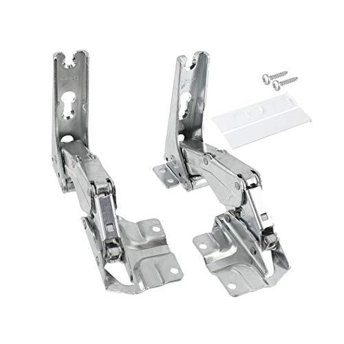 Paire de charnières pour réfrigérateur congélateur intégré Bosch Neff Siemens 481147 côté gauche ou droit