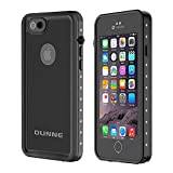 OUNNE iPhone 6/6s Waterproof Case, IP68 Certified with Touch ID Underwater Full Body Cover SandProof Shockproof Snowproof for iPhone 6/6s (Black) (Renewed)
