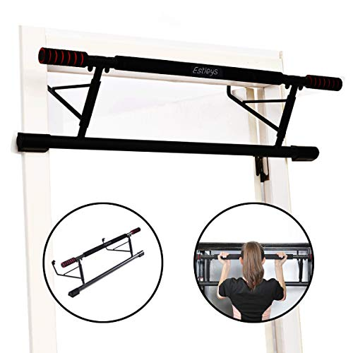 Estelys Foldable Pull-Up Bar Doorway Trainer, Chin-Up Bars for Door Frames Without Screws/Drilling, Workout for Home Gym Exercise