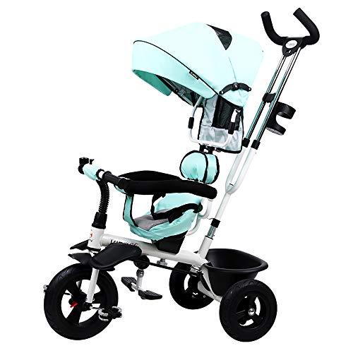 Aocean Triciclo Bike,Evolutivo Niño 4 EN 1 Triciclo para Niños +18 Meses con Pedales con Capota Extraíble Plegable Barra Telescópica para Padres Triciclo de Empuje
