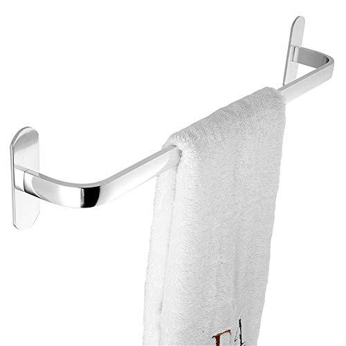 LLDD Handdoekhouder, zonder boren, aluminium, voor bevestiging aan de muur, uniek, voor badkamer, keuken, plank, ter voorkoming van roest, eenvoudig aan te brengen