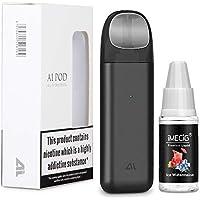 IJOY AI Vape Pod Cigarros Electronicos Kit de Inicio con Vape Liquido Vaper Atomizador recargable 450 mAh Batería recargable Todo en uno Portátil Vape Pen Kits de inicio Vape Negro, sin nicotina