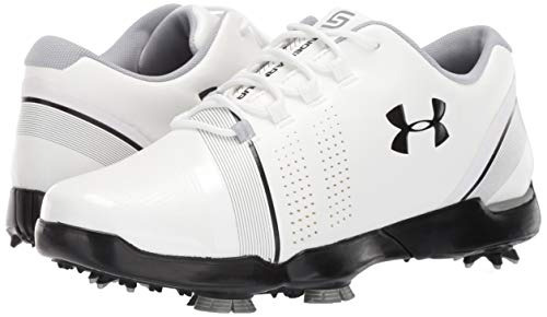 Under Armour Zapato Junior UA Spieth 3 Golf Niños, Blanco (White/Overcast Gray/Black (100) 100), 35.5 EU