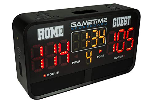Gametime Digital Sports Scoreboard Indoor & Outdoor - App Controlled with WiFi, Rechargeable, Portable & Weather Resistant - 4 Built-in Speakers to Stream Music, Play Sound Effects & Announce