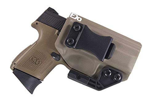 Fierce Defender IWB Kydex Holster FN FNS 9 Compact The Paladin Series -Made in USA- (Flat Dark Earth)