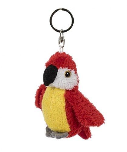 Unbekannt Schlüsselanhänger Papagei rot, aus Plüsch, Tier Tiere, Ara, Vogel