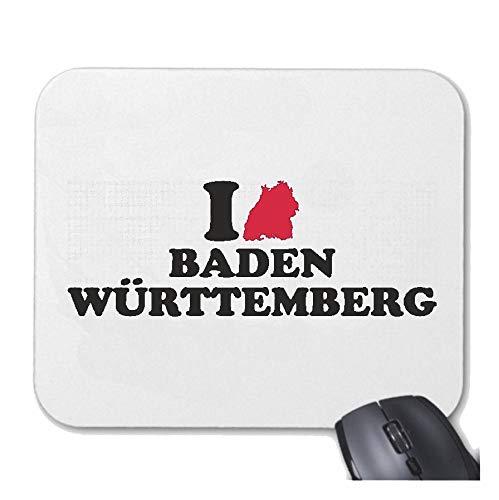 Helene Mousepad Mauspad I Love Baden WÜRTTEMBERG - Freiburg - EMMENDINGEN - SCHWARZWALD - KAISERSTUHL für ihren Laptop, Notebook oder Internet PC mit Windows