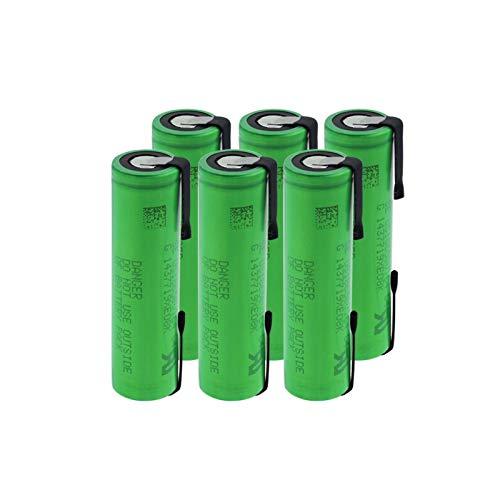 CNMMGL 3.6v Vtc4 2100mah 18650 Batería De Litio, BateríAs Recargables De Alto Drenaje 30a con LengüEtas De níQuel para Linterna 6Pieces